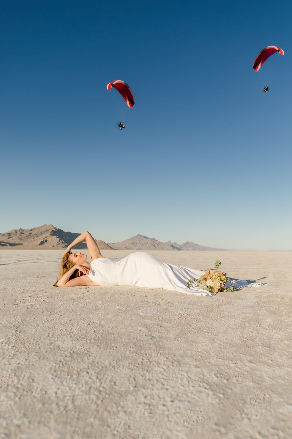 Simple Elegant Modern Goli June Brighton Wedding Dress Victoria Chukarov Salt Flats Utah 12
