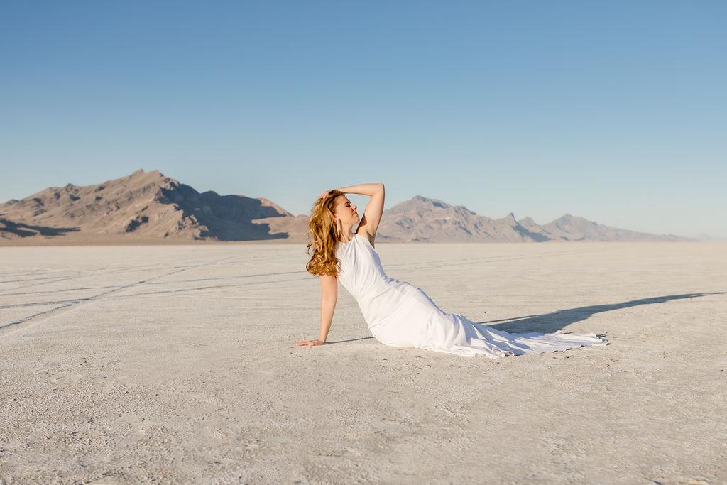 Simple Elegant Modern Goli June Brighton Wedding Dress Victoria Chukarov Salt Flats Utah 14