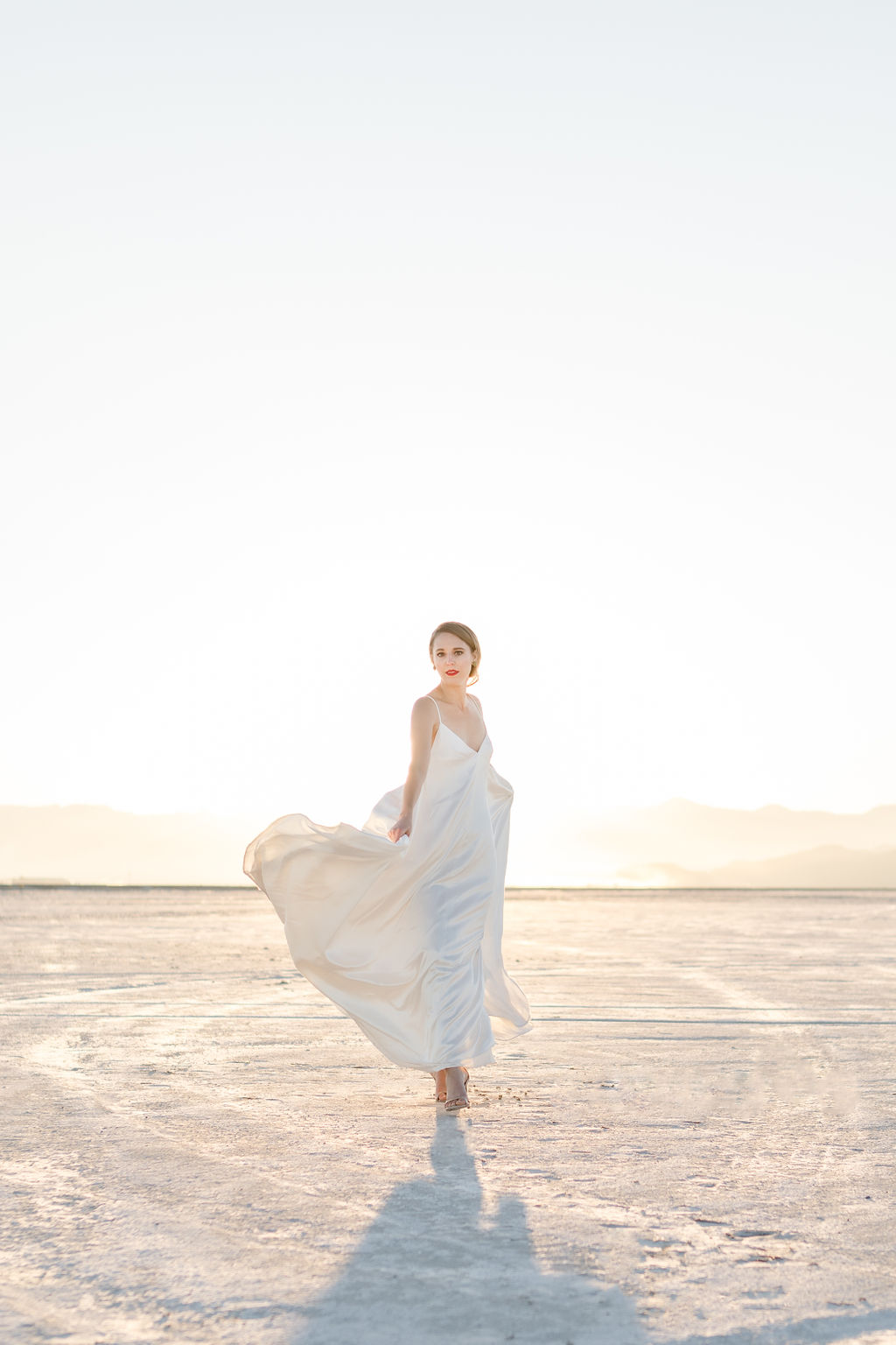 Simple Elegant Modern Goli June Luca Wedding Dress Victoria Chukarov Salt Flats Utah 19