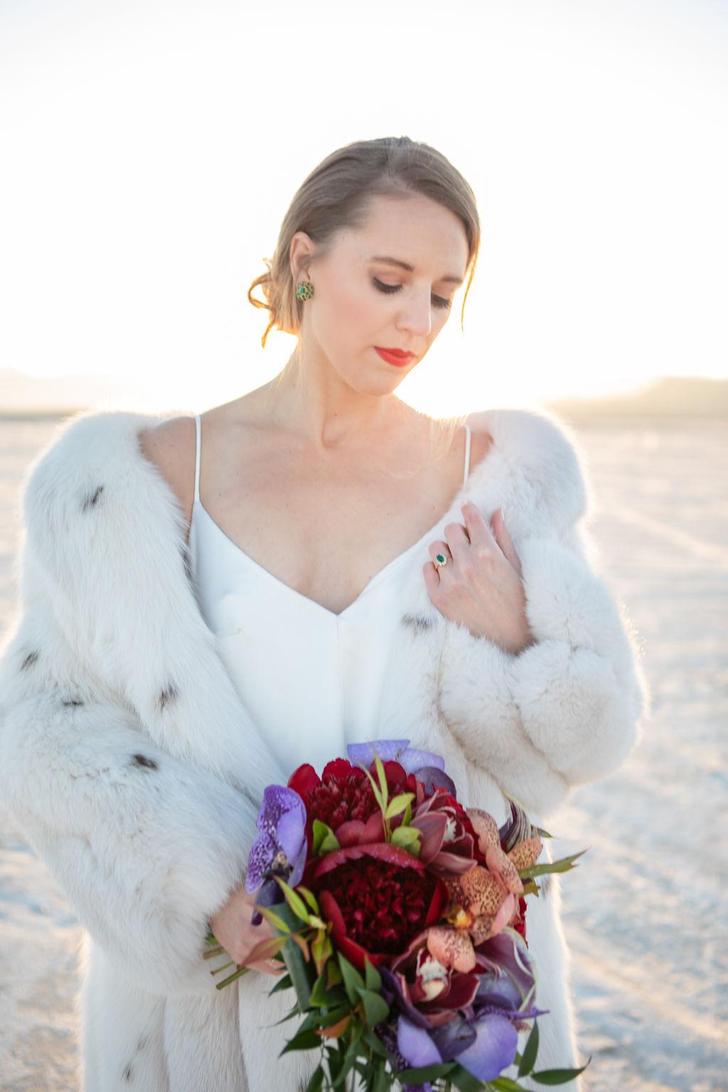 Simple Elegant Modern Goli June Luca Wedding Dress Victoria Chukarov Salt Flats Utah 20
