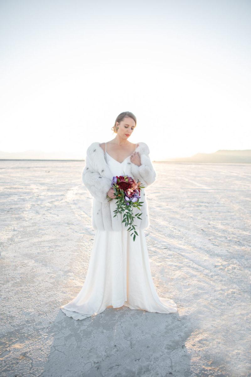 Simple Elegant Modern Goli June Luca Wedding Dress Victoria Chukarov Salt Flats Utah 21