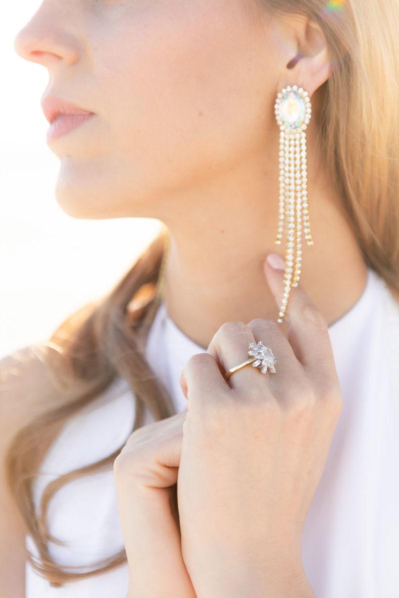Simple Elegant Vintage Heirloom Wedding Jewelry Victoria Chukarov Salt Flats Utah 3