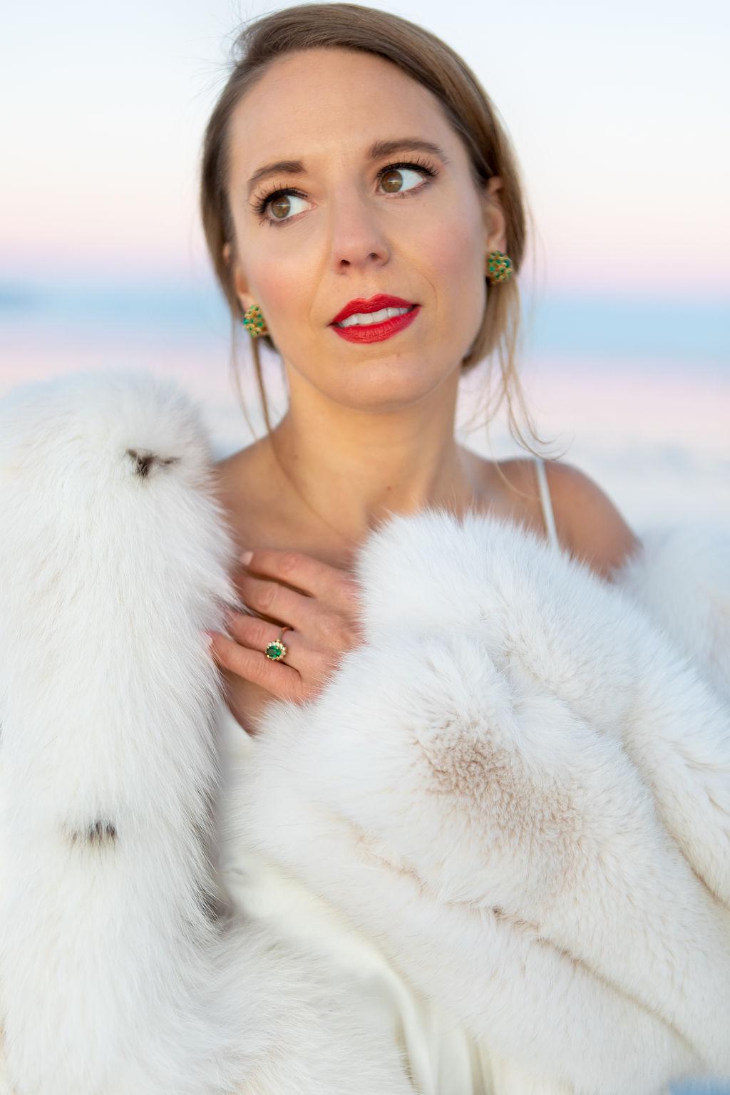 Simple Elegant Vintage Heirloom Wedding Jewelry Victoria Chukarov Salt Flats Utah 5