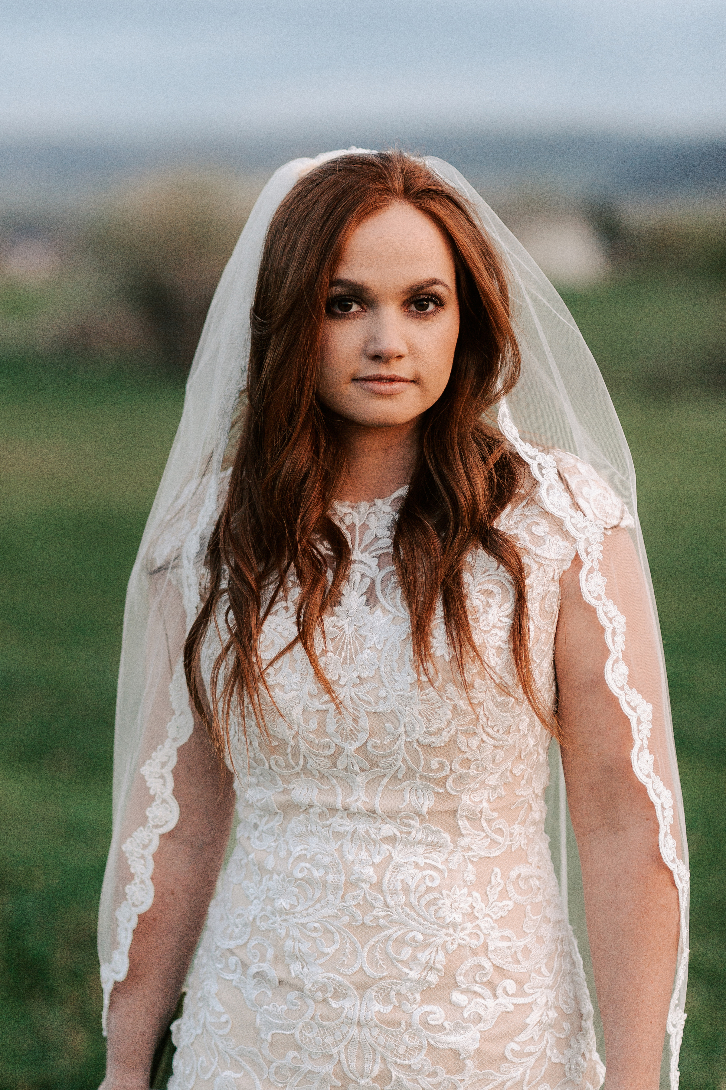 Classic Timeless Wedding Dress Traditional Bridal Veil Tew Treasures Photography 1