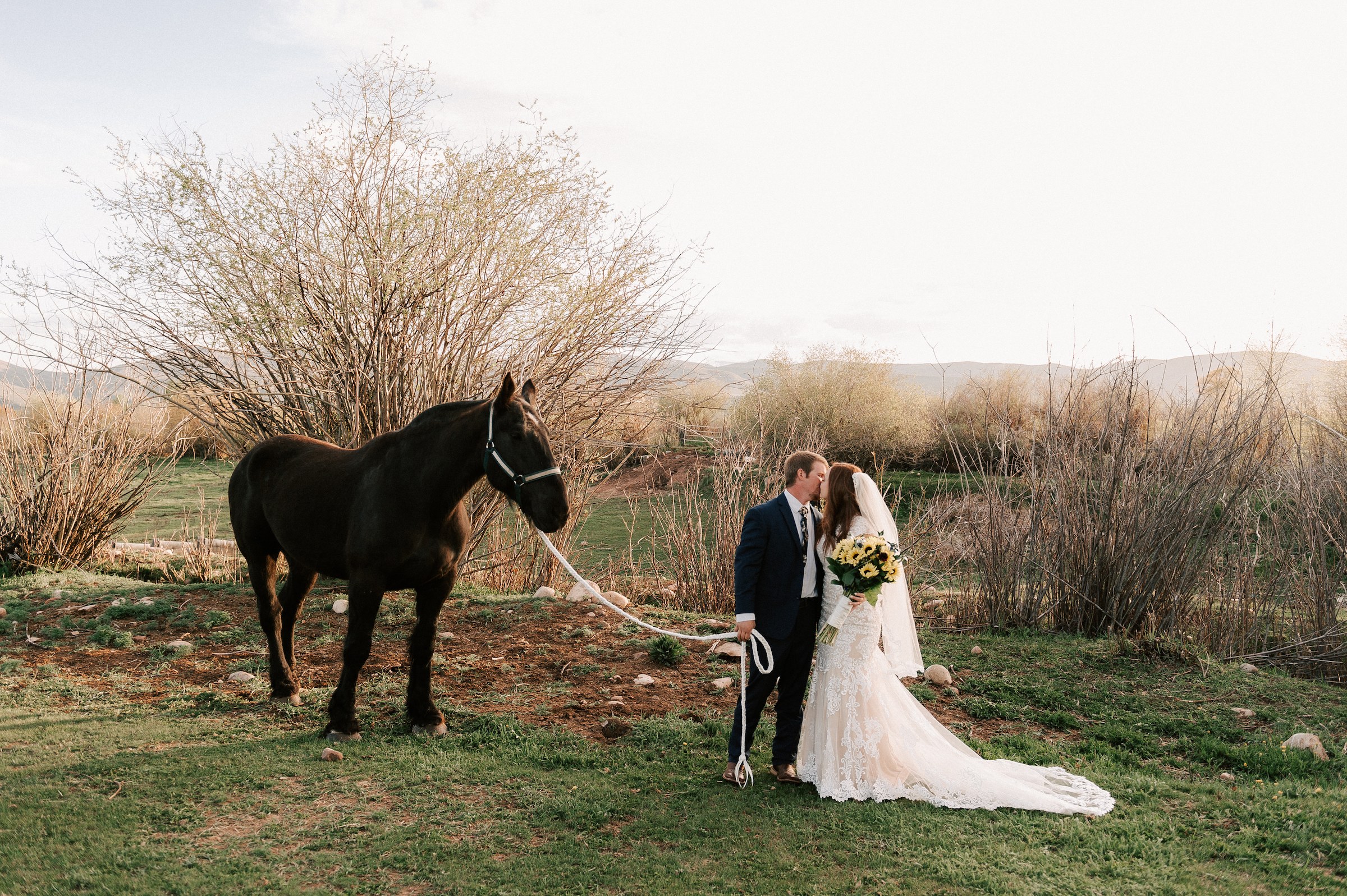 Classic Wedding Dress Cowboy Boots Horse Ranch Tew Treasures Photography 1