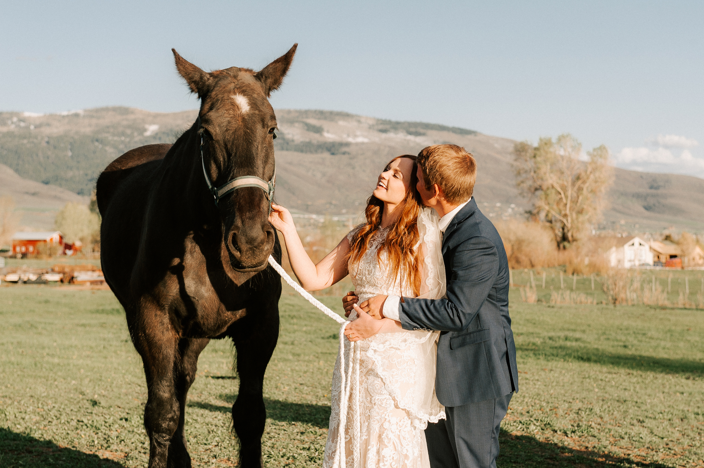 Classic Wedding Dress Cowboy Boots Horse Ranch Tew Treasures Photography 5