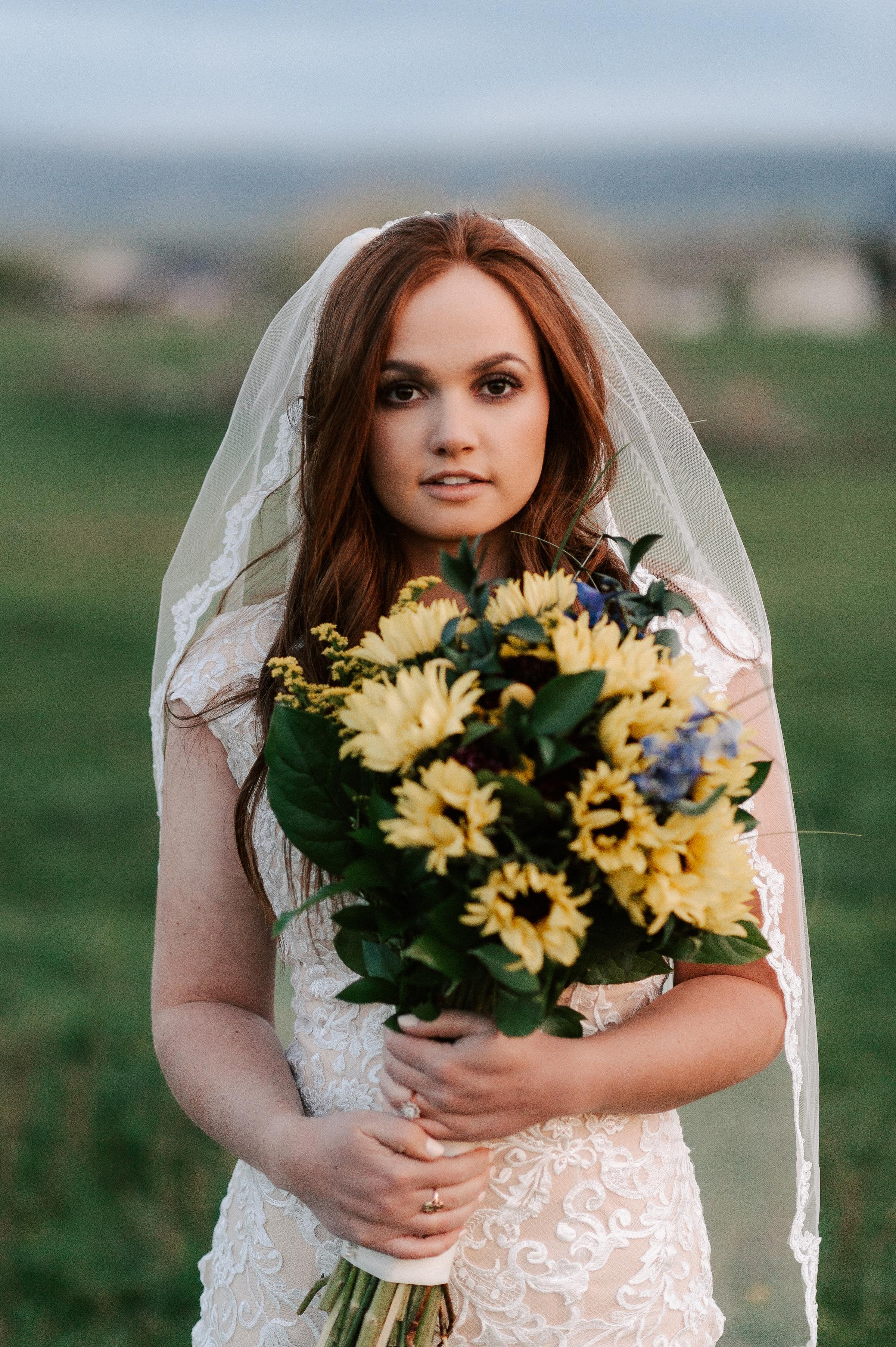 Sunflower Wedding Bouquet Ranch Tew Treasures Photography 1