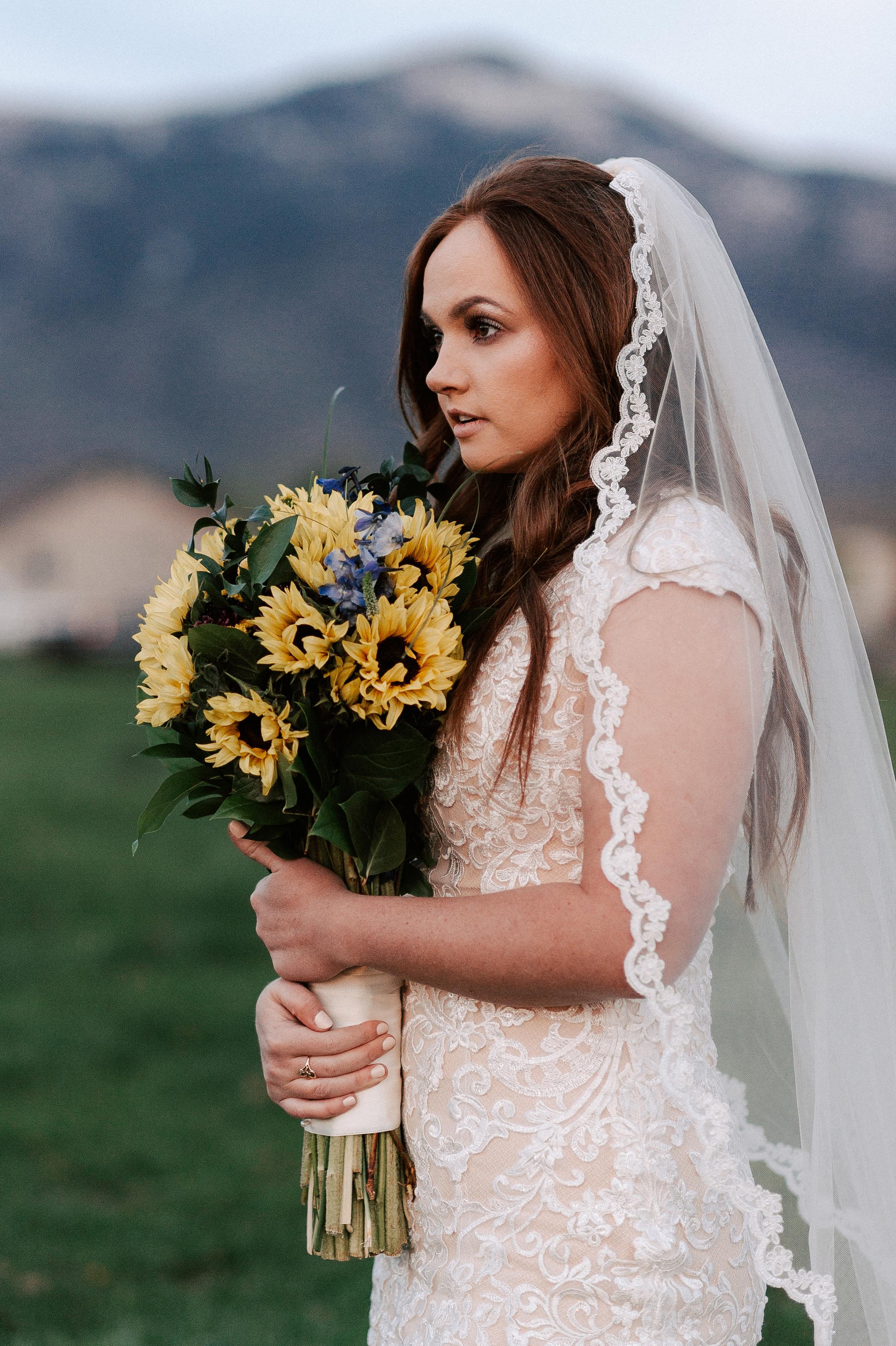 Sunflower Wedding Bouquet Ranch Tew Treasures Photography 2