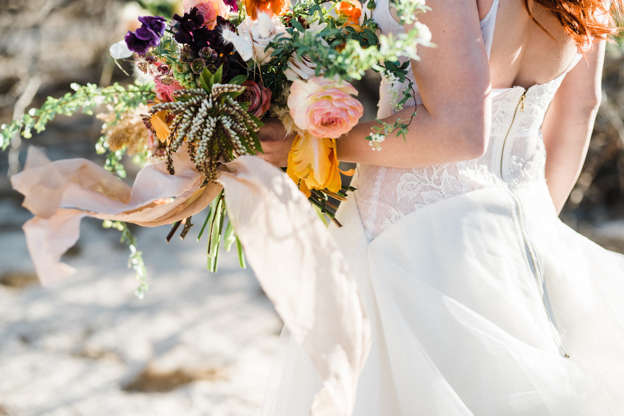 Wild Organic Textural Wedding Bouquet Floral Installation The Potted Pansy Rooted Willow 12