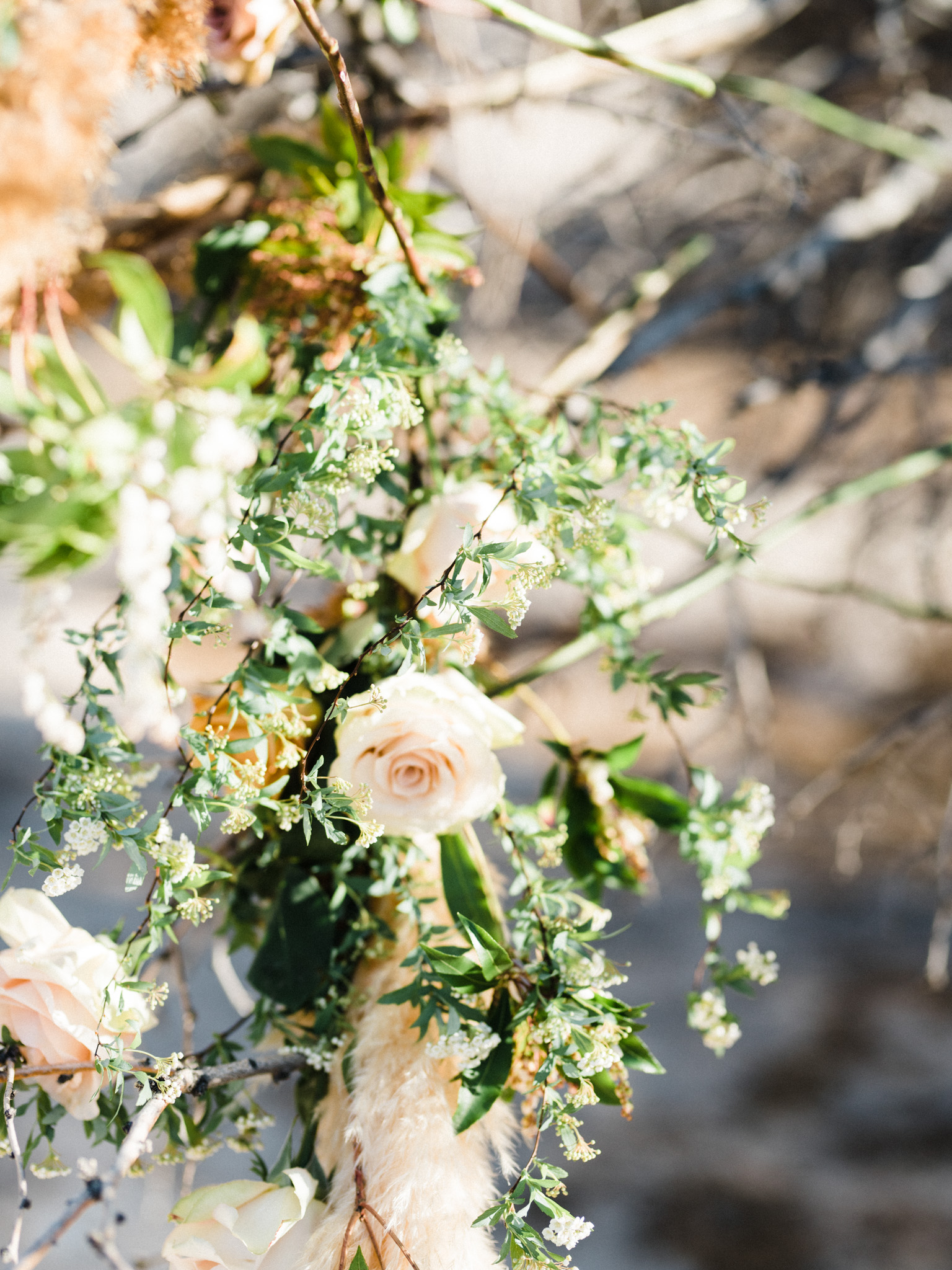 Wild Organic Textural Wedding Bouquet Floral Installation The Potted Pansy Rooted Willow 15