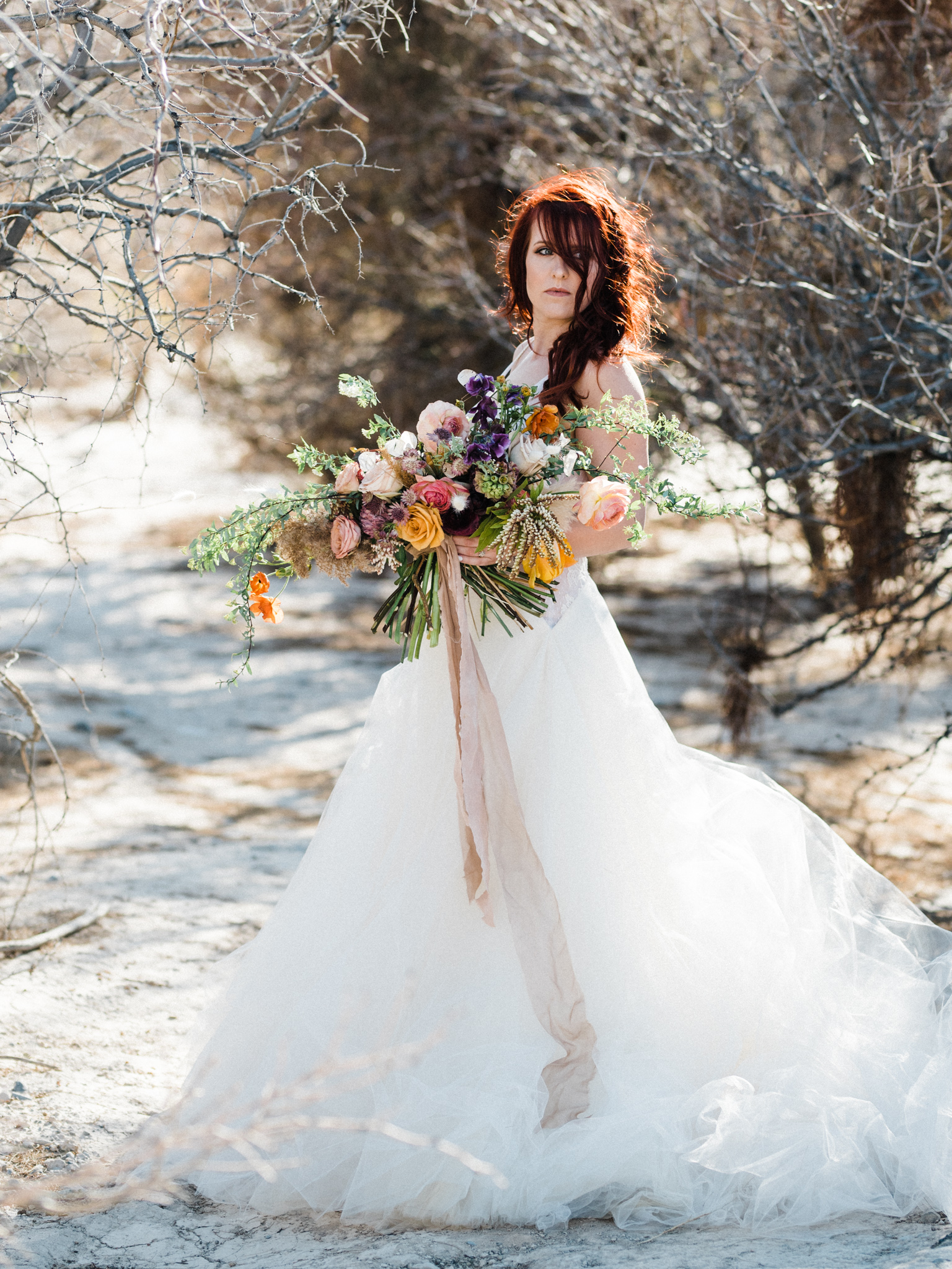 Wild Organic Textural Wedding Bouquet Floral Installation The Potted Pansy Rooted Willow 3
