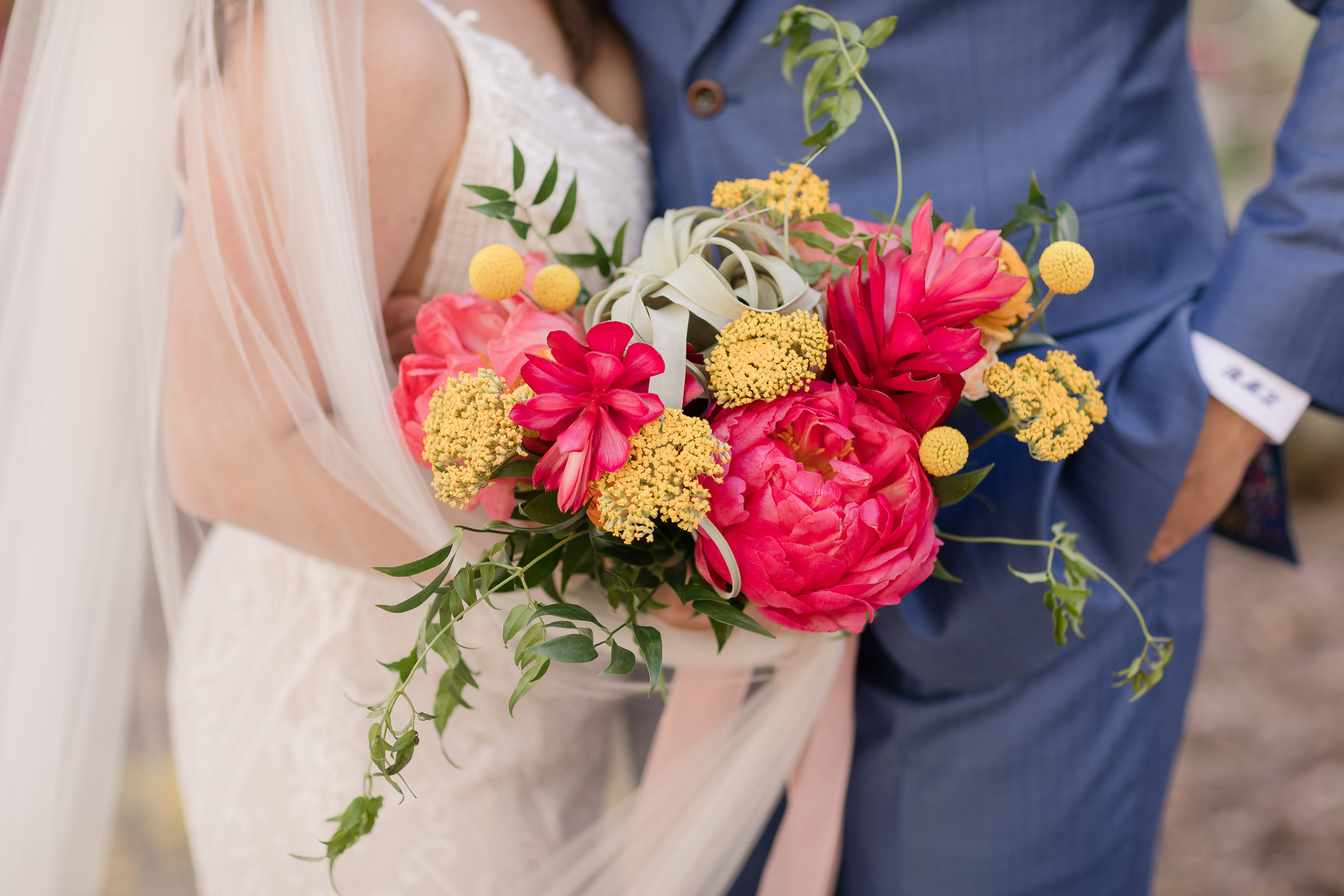 Bold Colorful Wedding Bouquet Peonies Citrus Desert Florals Pure In Art Photography 1
