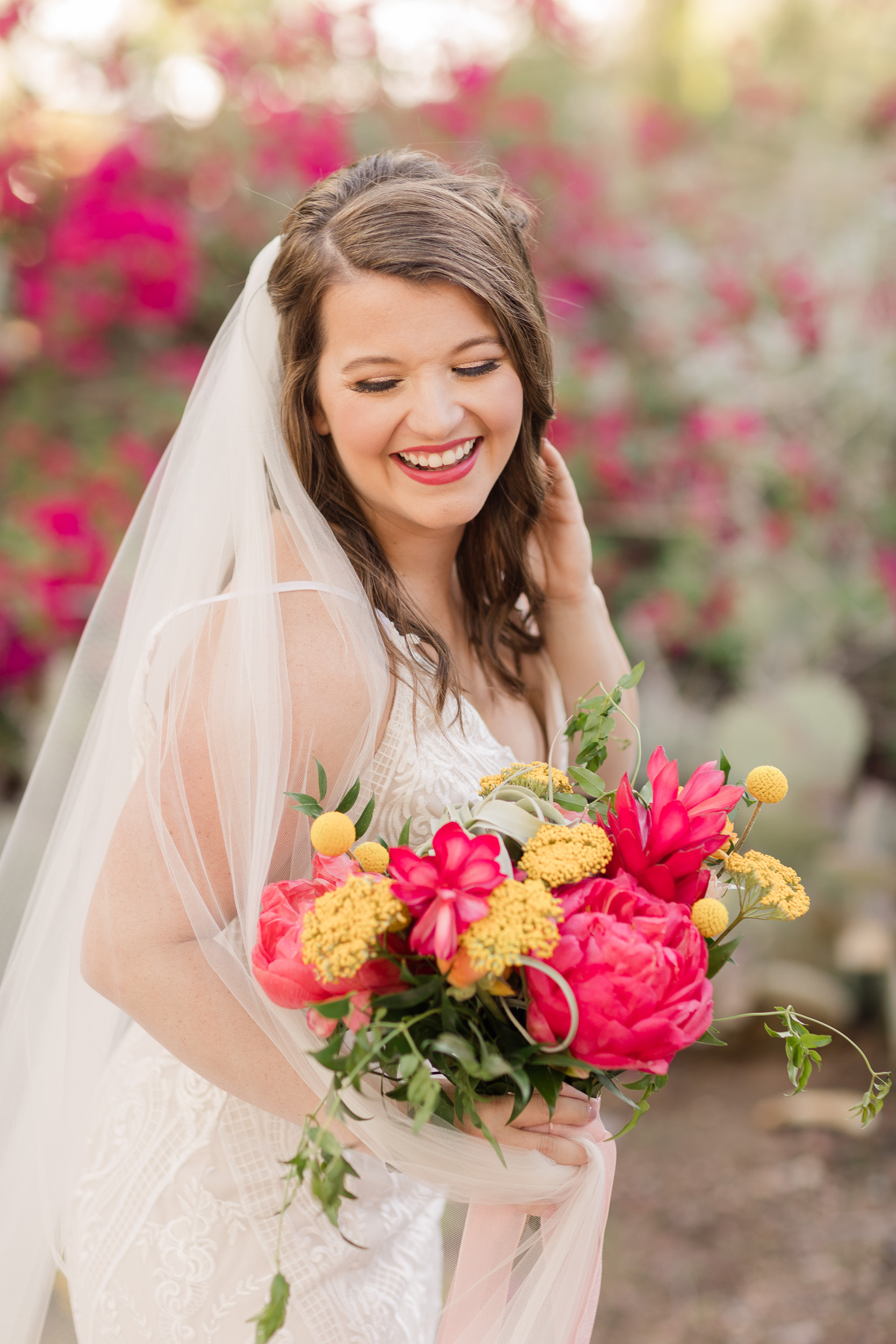 Bold Colorful Wedding Bouquet Peonies Citrus Desert Florals Pure In Art Photography 2