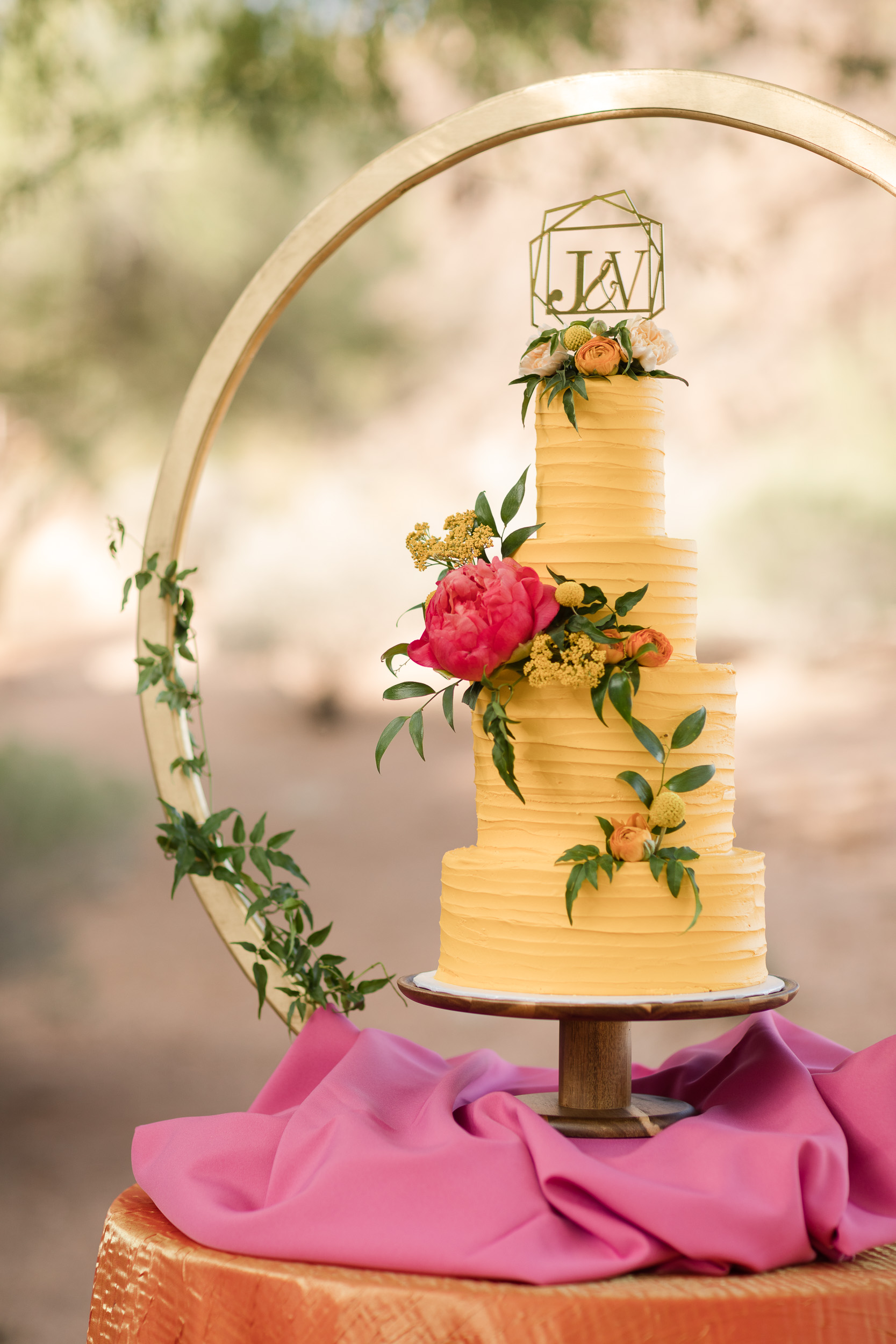 Citrus Floral Yellow Wedding Cake Pure In Art Photography 1