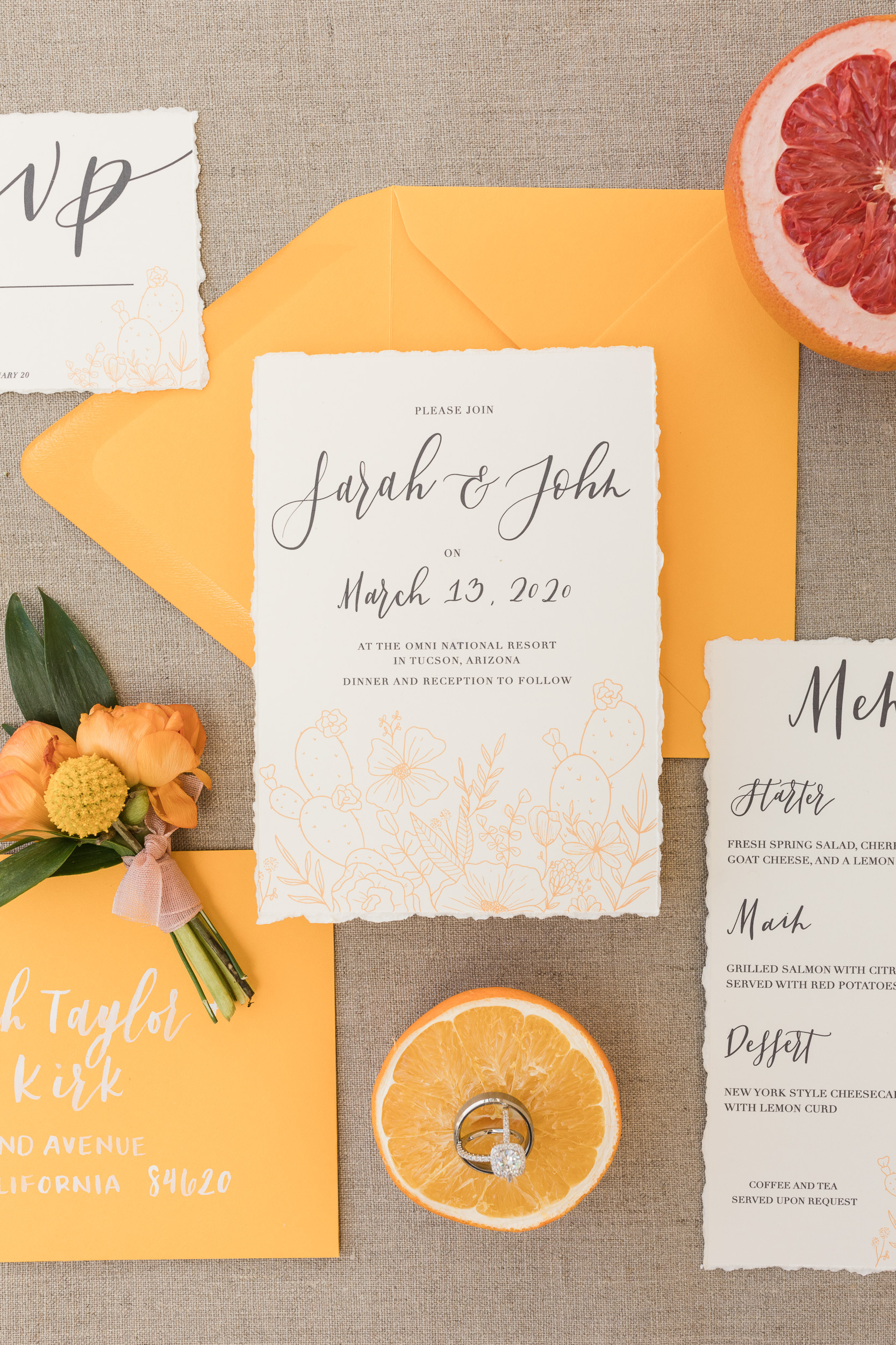 Sonoran Desert Citrus Inspired Wedding Shoot Pure In Art Photography26