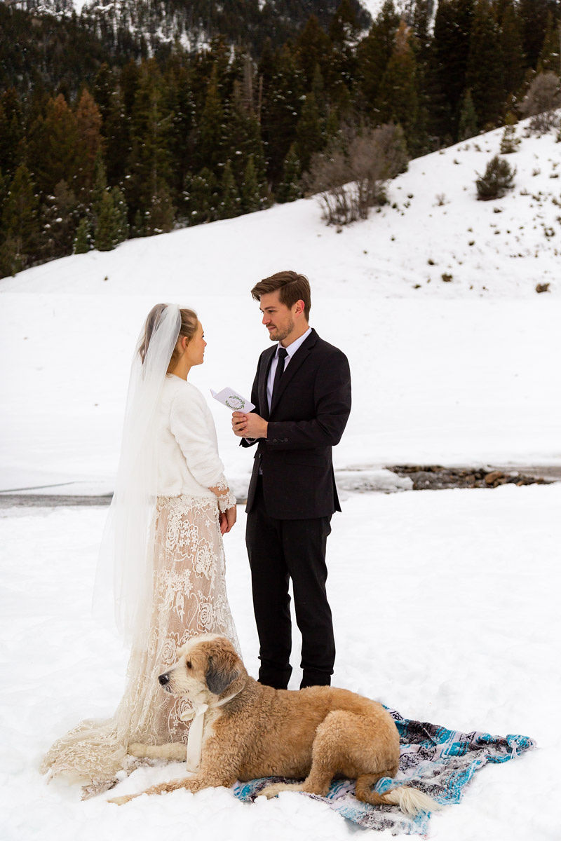 Bridal Fur Jacket Winter Snowy Wasatch Mountain Elopement Halie West Photography 4