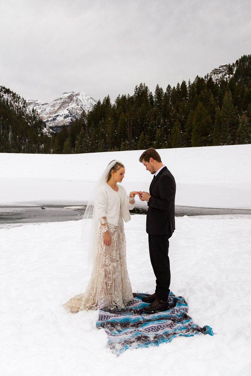 Bridal Fur Jacket Winter Snowy Wasatch Mountain Elopement Halie West Photography 5