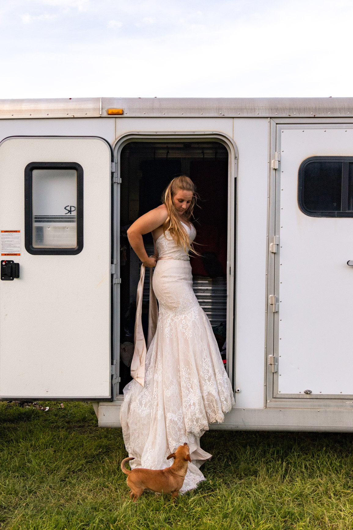 Bridal Suite Horse Trailer Rustic Elopement Wasatch Mountains Rocky Mountains Utah Halie West Photography 2