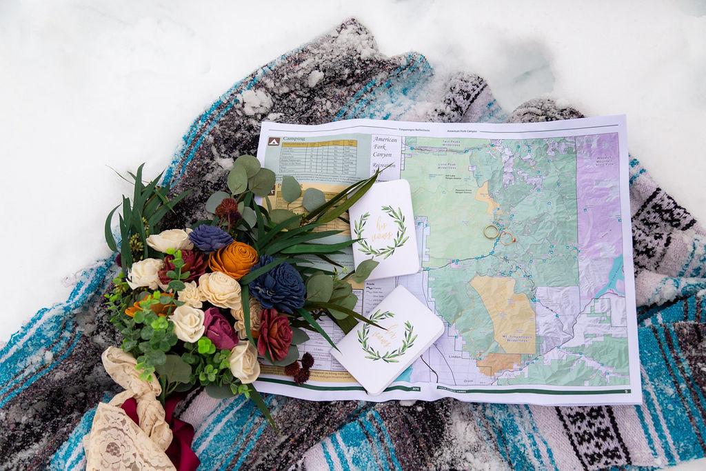 Eco Friendly Wedding Bouquet Faux Flowers Wild Escape Florals Halie West Photography 4