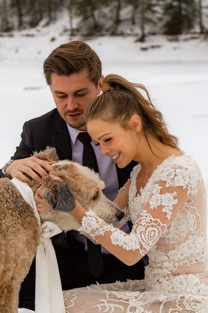 Long Sleeve Lace Wedding Dress Snowy Winter Wasatch Mountains Utah Elopment Halie West Photography 4