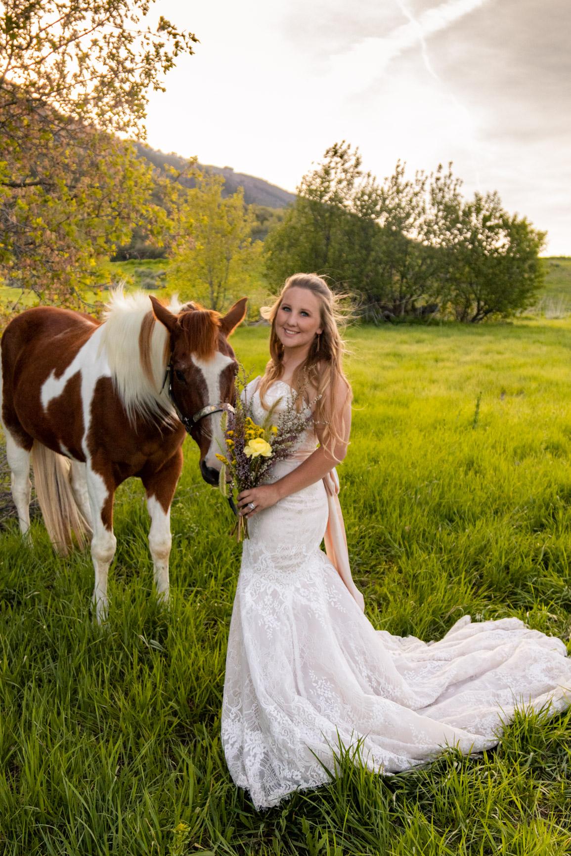 Rustic Wild Wedding Bouquet Elopement Rocky Mountains Wasatch Mountains Utah Halie West Photography 1
