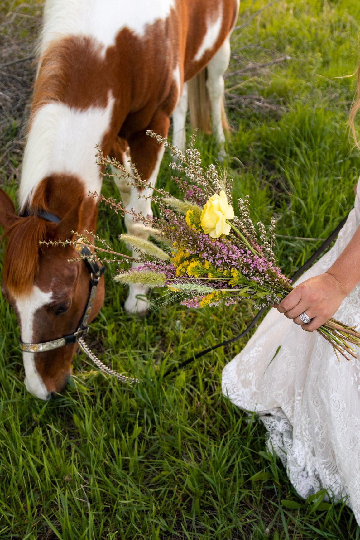 Rustic Wild Wedding Bouquet Elopement Rocky Mountains Wasatch Mountains Utah Halie West Photography 5