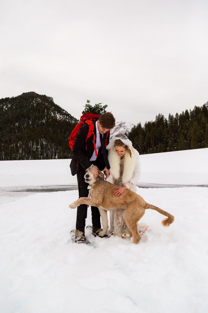 Snowy Winter Wasatch Mountains Utah Elopement Halie West Photography 10