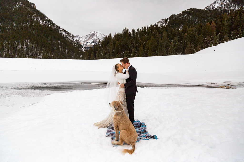 Snowy Winter Wasatch Mountains Utah Elopement Halie West Photography 8