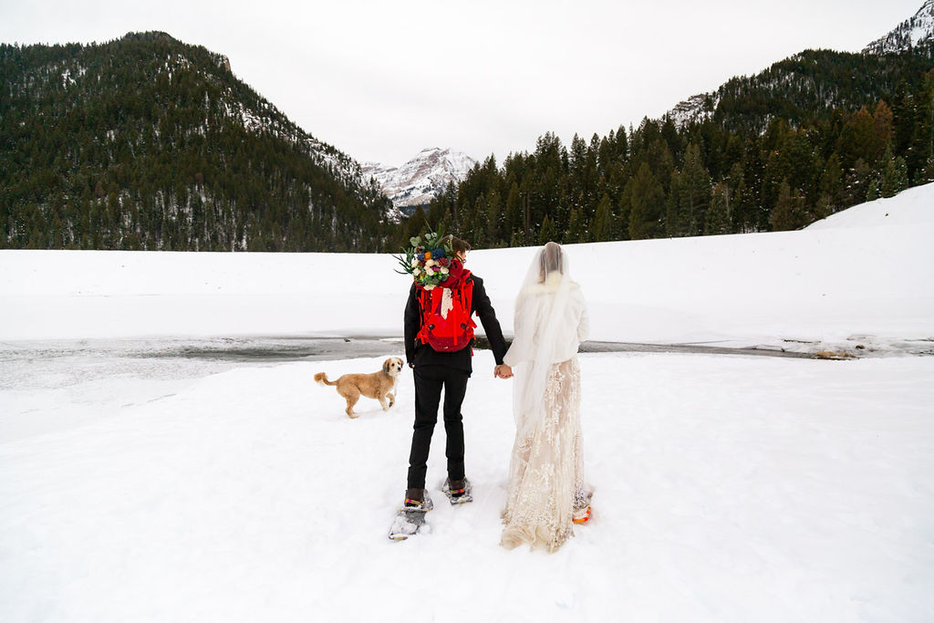 Snowy Winter Wasatch Mountains Utah Elopement Halie West Photography 9