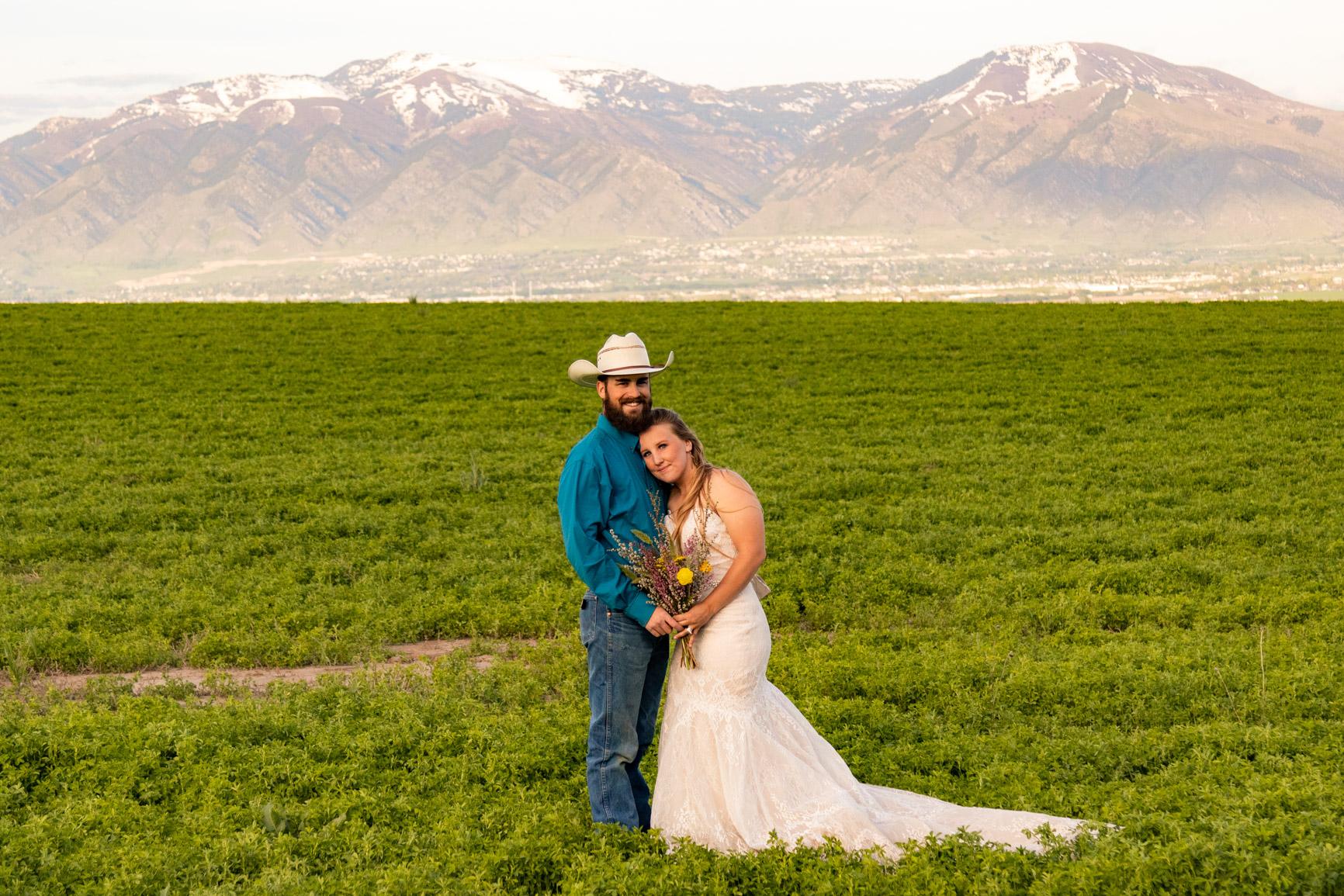 Utah Rocky Mountain Elopement Wasatch Mountains Bridal Shoot Halie West Adventure Photography 14