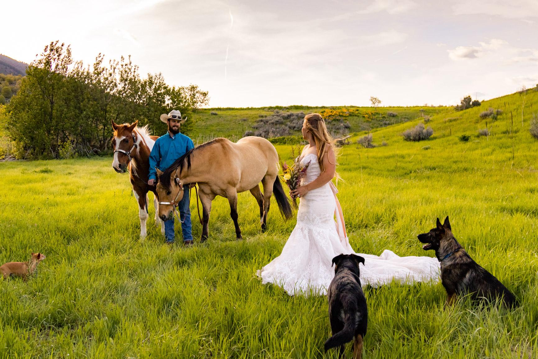 Utah Rocky Mountain Elopement Wasatch Mountains Bridal Shoot Halie West Adventure Photography 2