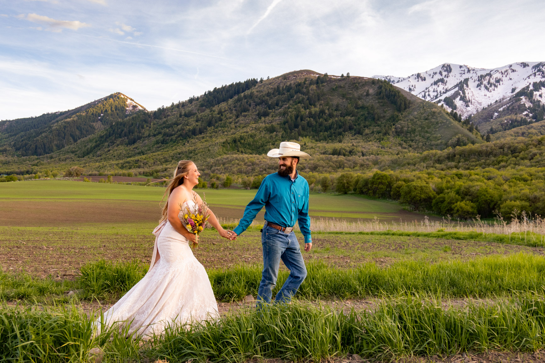 Utah Rocky Mountain Elopement Wasatch Mountains Bridal Shoot Halie West Adventure Photography 5