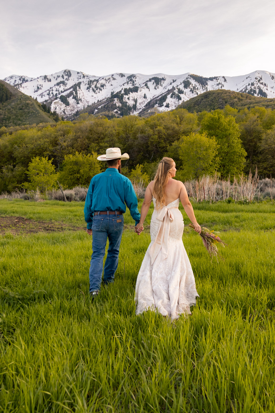 Utah Rocky Mountain Elopement Wasatch Mountains Bridal Shoot Halie West Adventure Photography 6