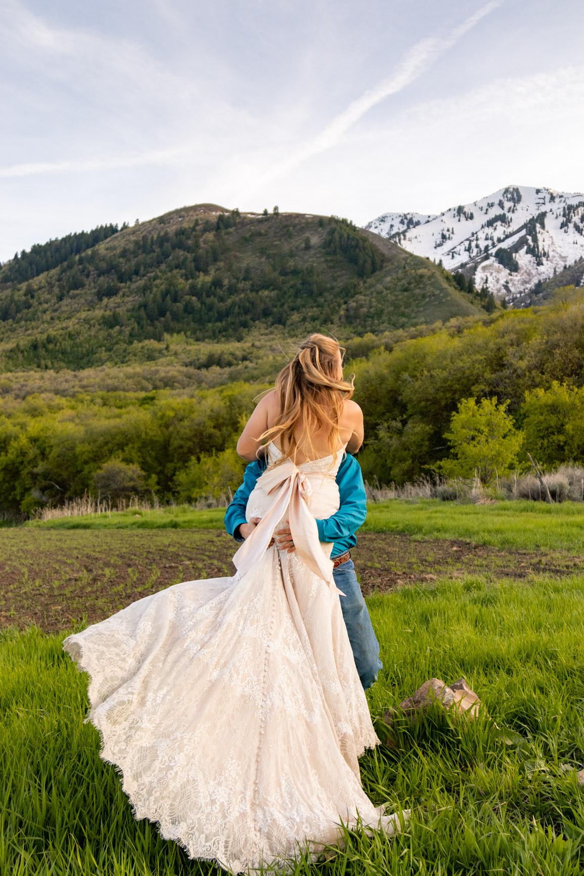 Utah Rocky Mountain Elopement Wasatch Mountains Bridal Shoot Halie West Adventure Photography 9