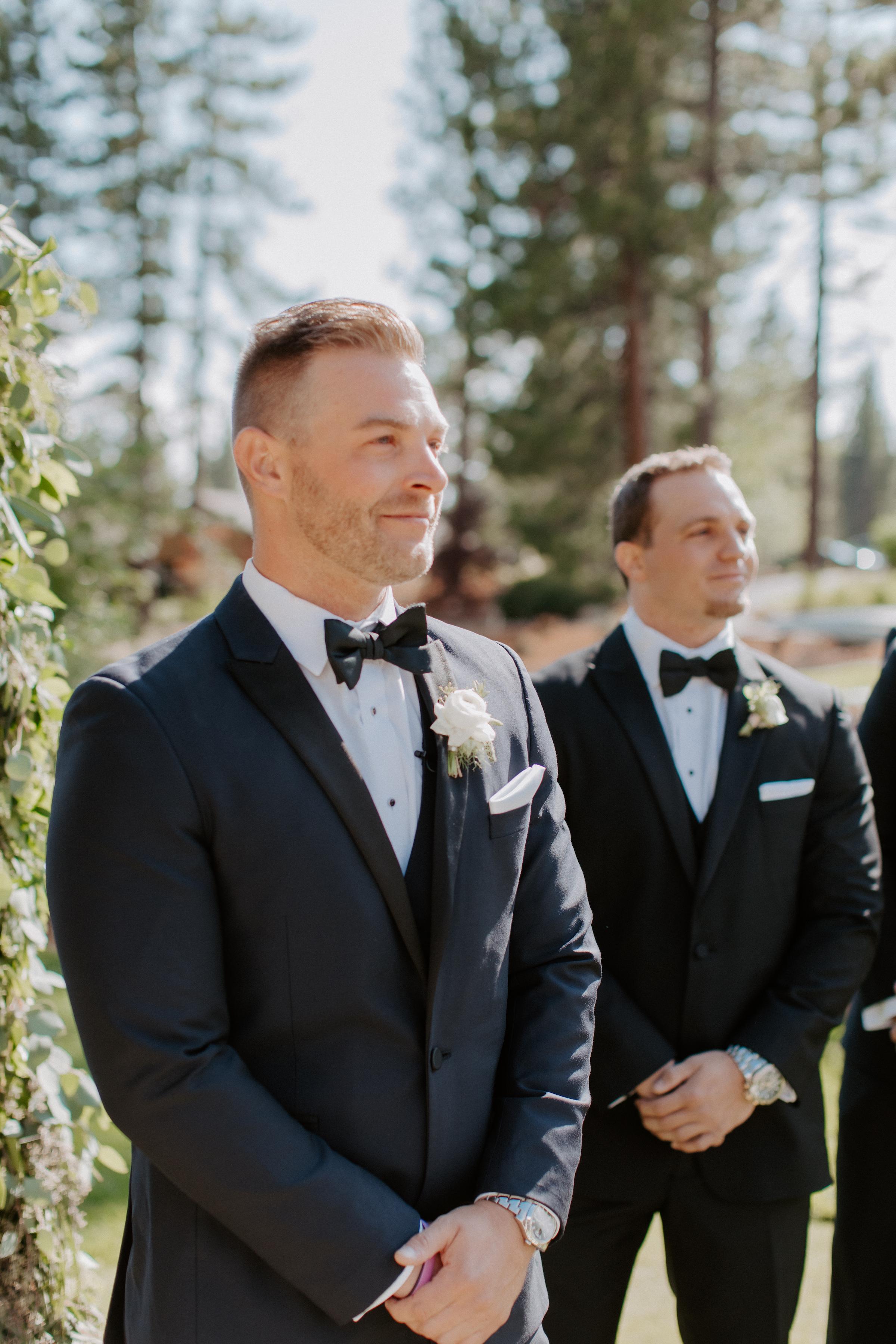 Neutral Toned Timeless Lake Tahoe Wedding Kay Kroshus4
