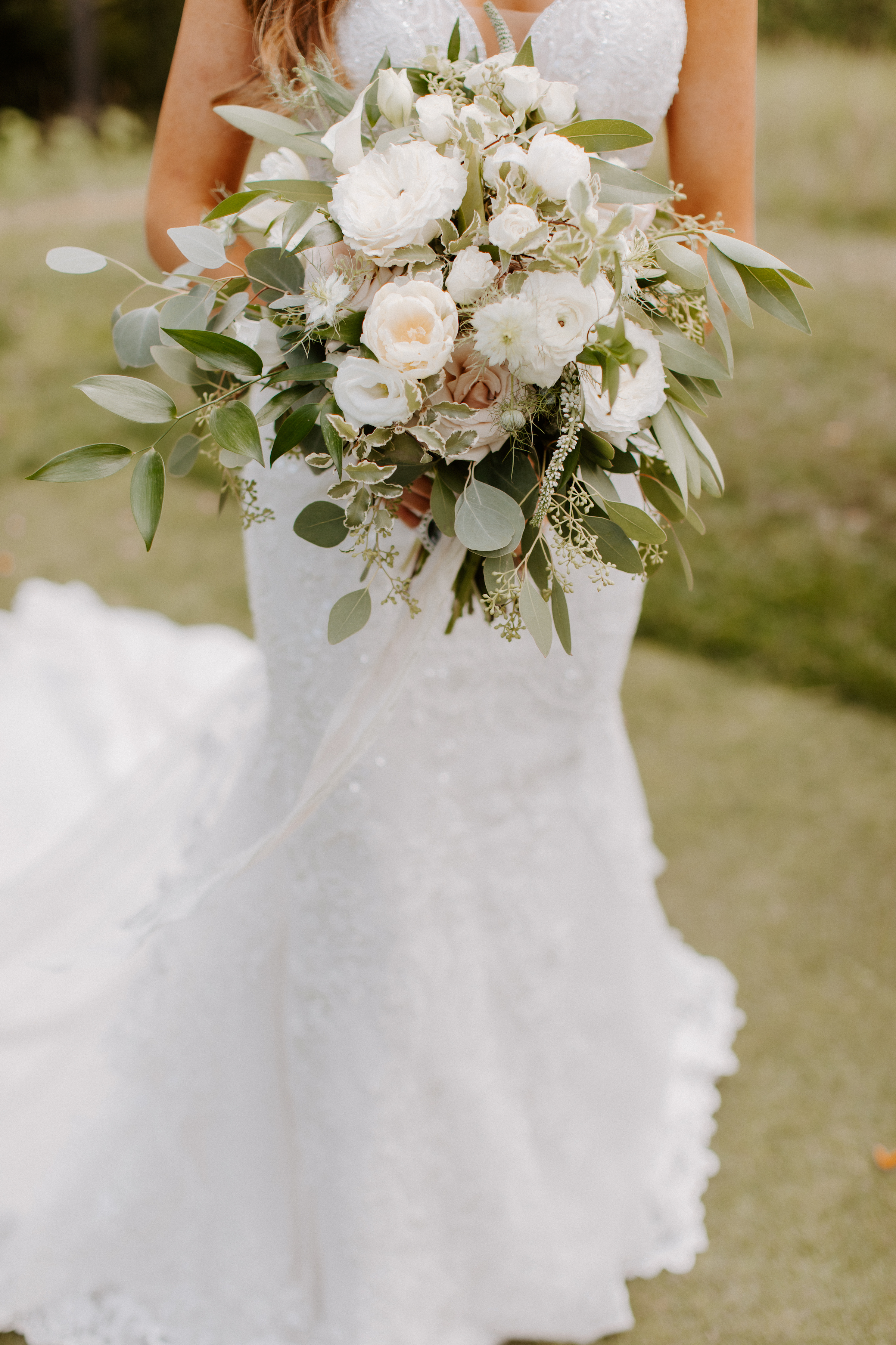 Neutral Wedding Bouquet Bridal Bouquet Green White
