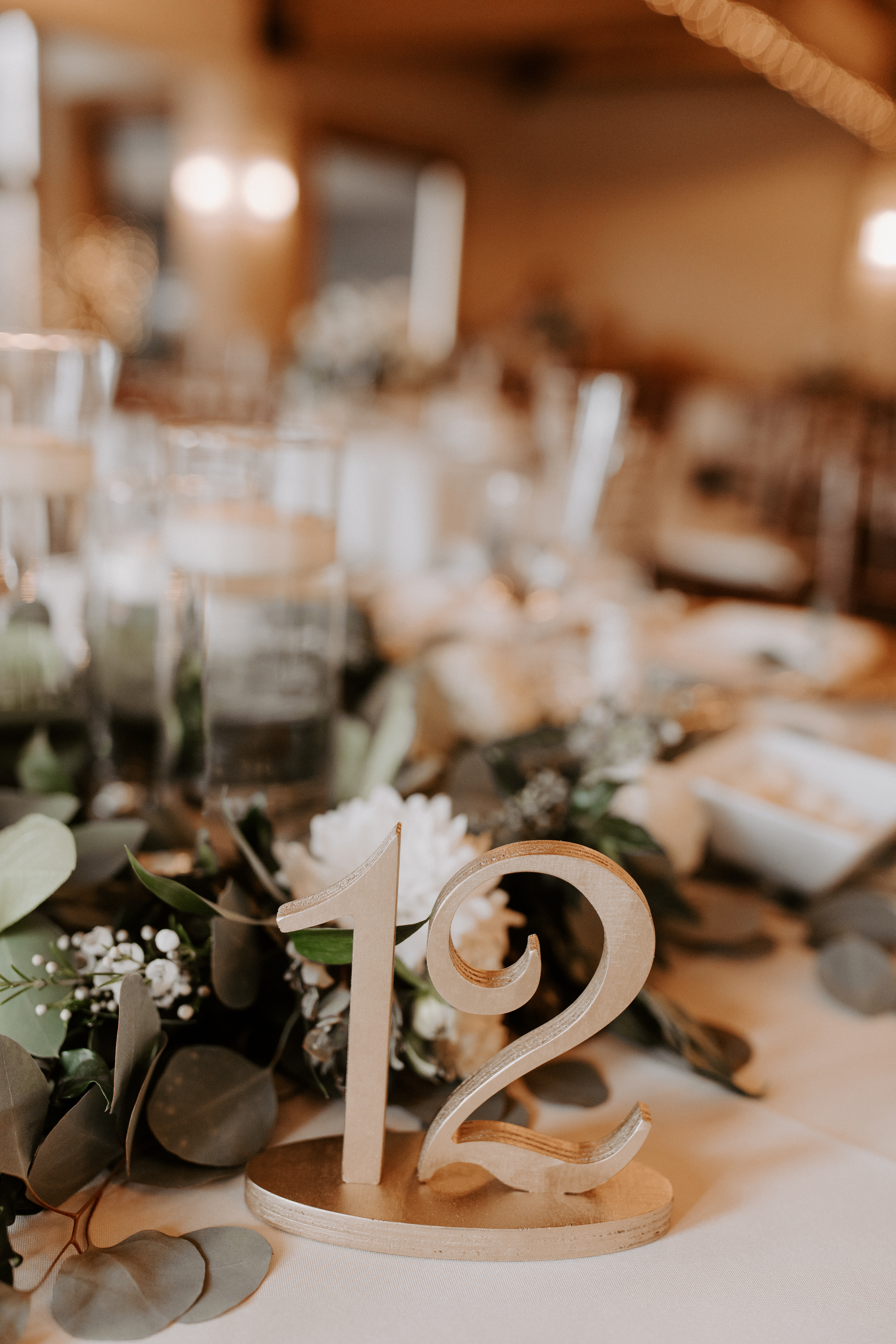 Wedding Table Number Timeless Green White