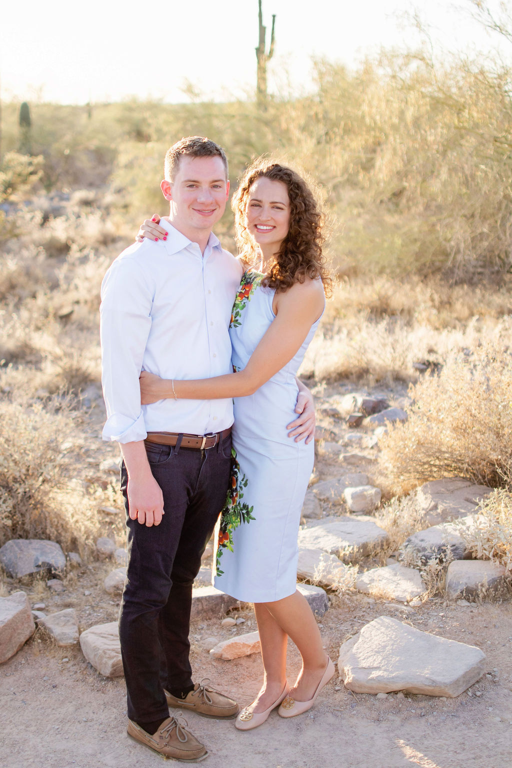 Scottsdale Desert Destination Engagement Sunset Blue Arrow Photography13
