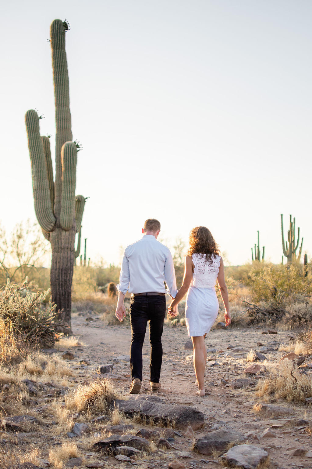 Scottsdale Desert Destination Engagement Sunset Blue Arrow Photography17