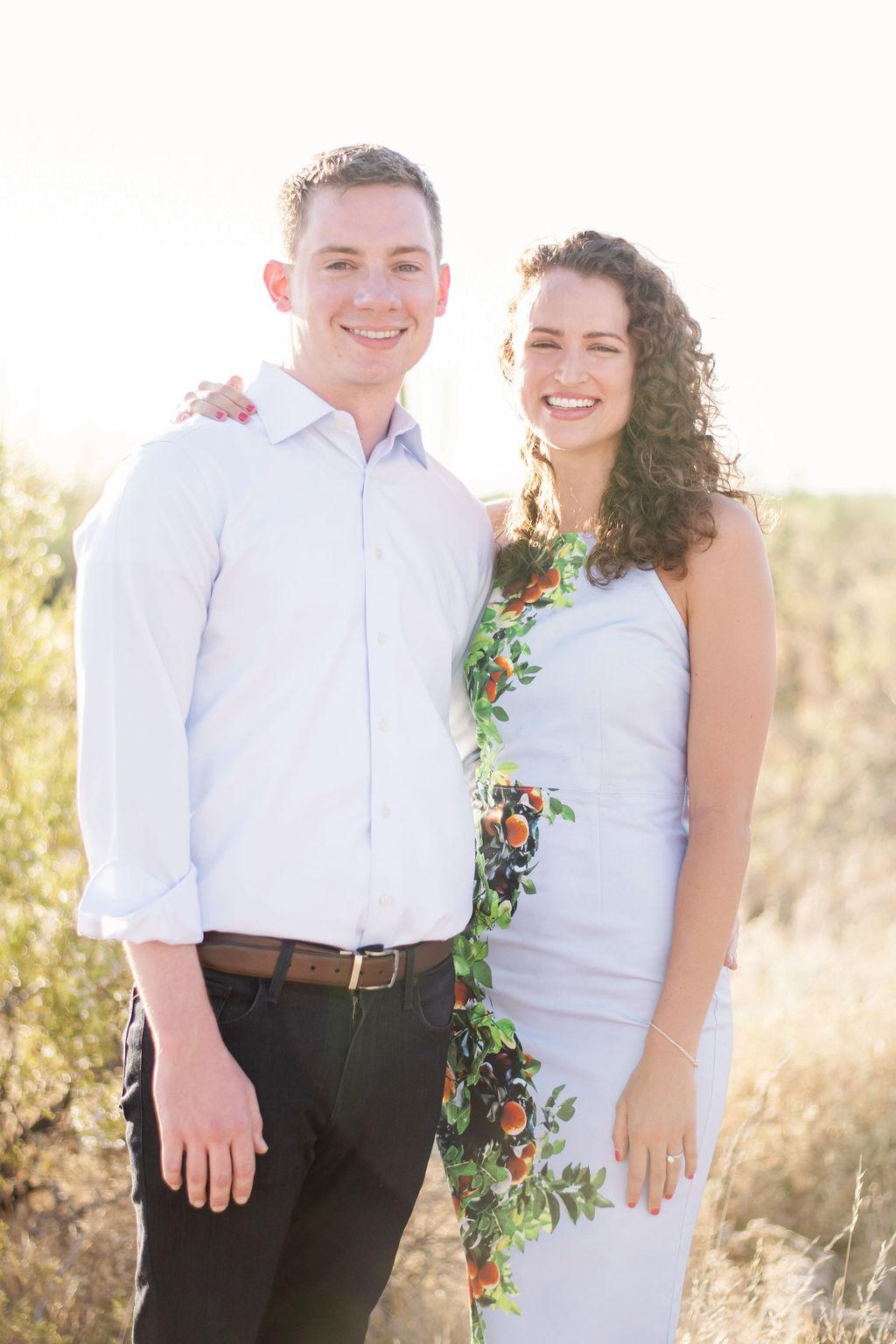 Scottsdale Desert Destination Engagement Sunset Blue Arrow Photography2