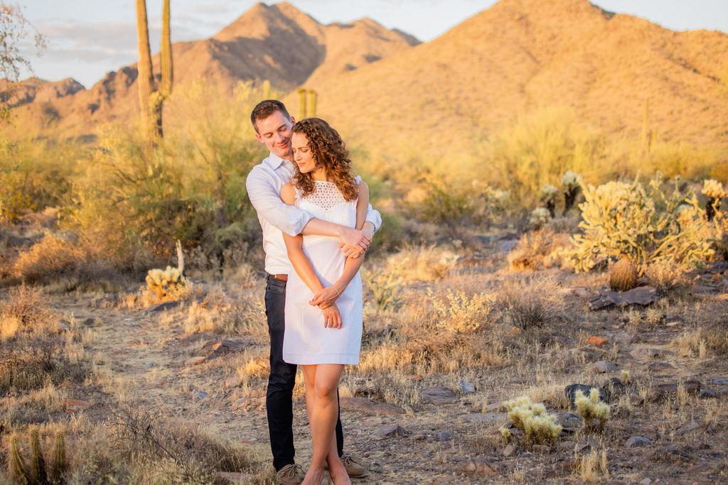 Scottsdale Desert Destination Engagement Sunset Blue Arrow Photography23