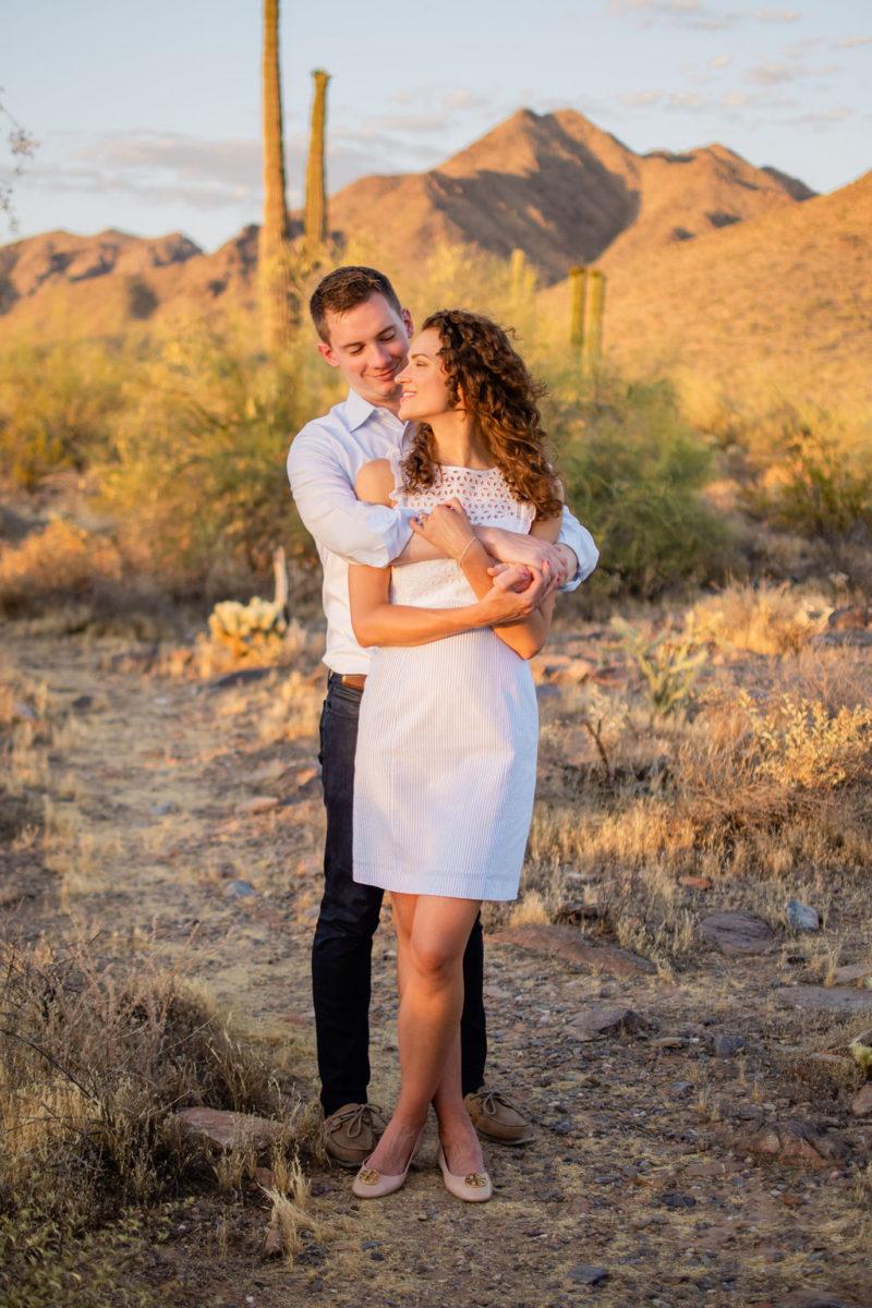 Scottsdale Desert Destination Engagement Sunset Blue Arrow Photography24
