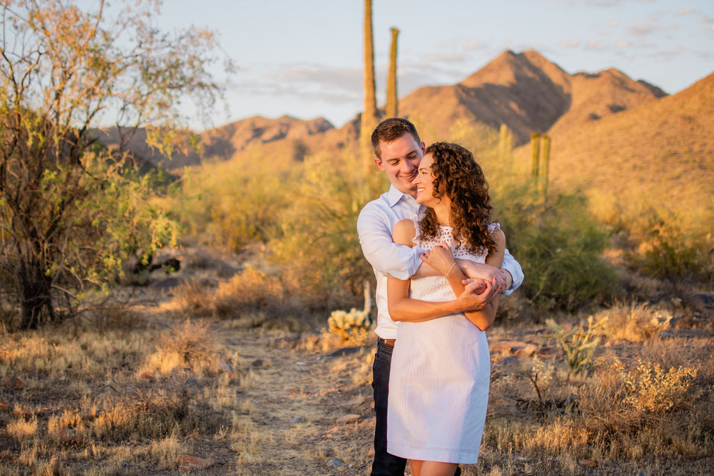 Scottsdale Desert Destination Engagement Sunset Blue Arrow Photography25