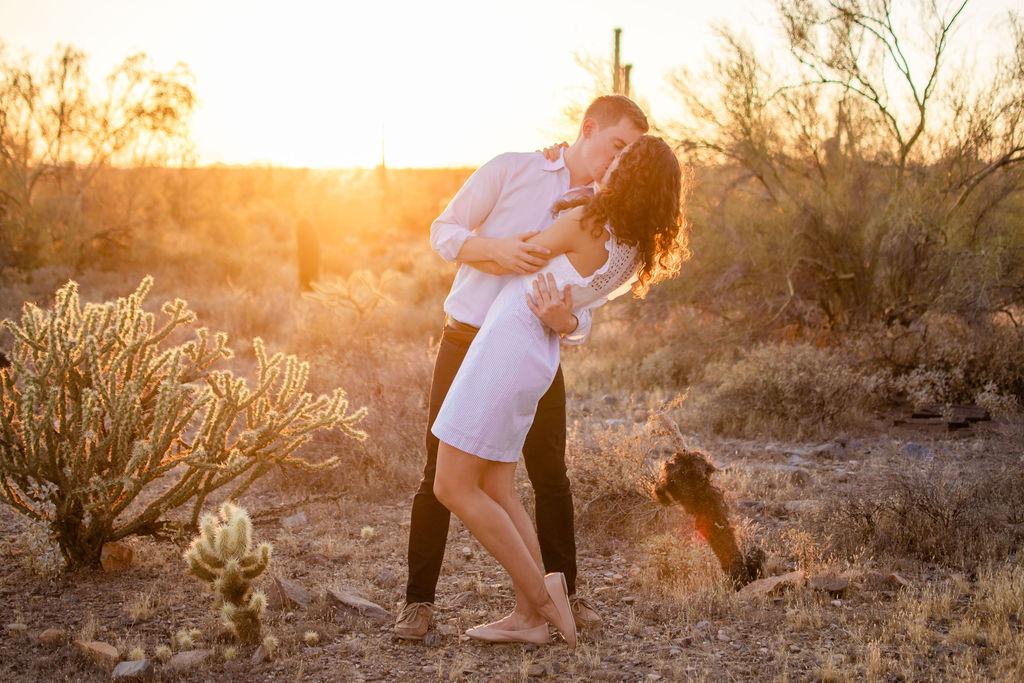 Scottsdale Desert Destination Engagement Sunset Blue Arrow Photography28