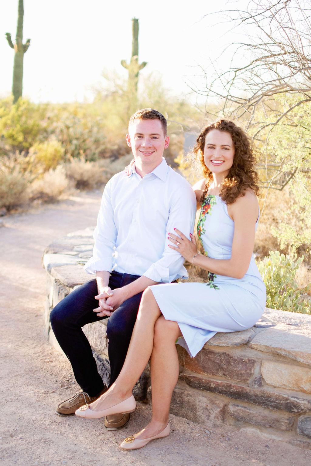 Scottsdale Desert Destination Engagement Sunset Blue Arrow Photography5