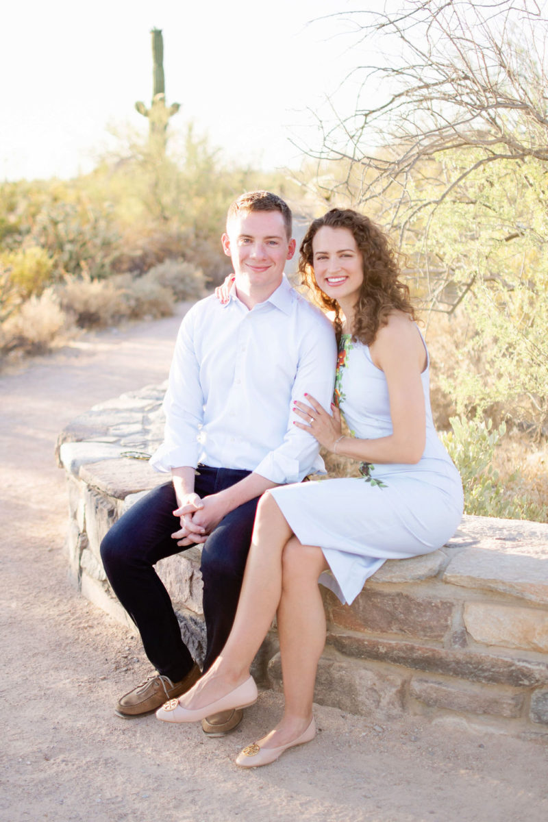 Scottsdale Desert Destination Engagement Sunset Blue Arrow Photography6
