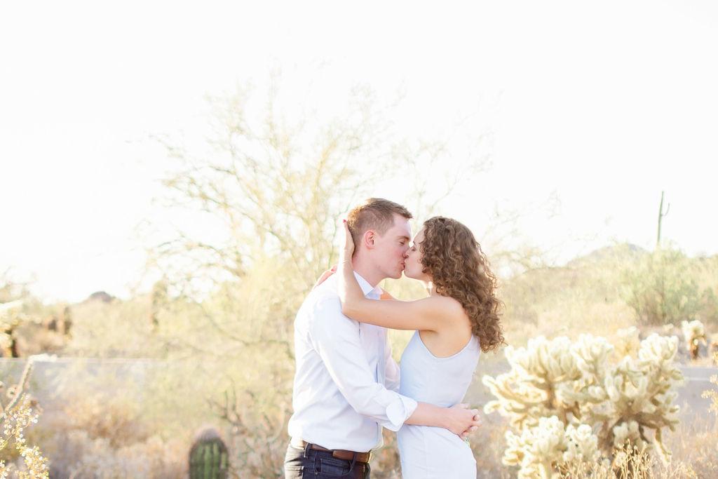 Scottsdale Desert Destination Engagement Sunset Blue Arrow Photography9