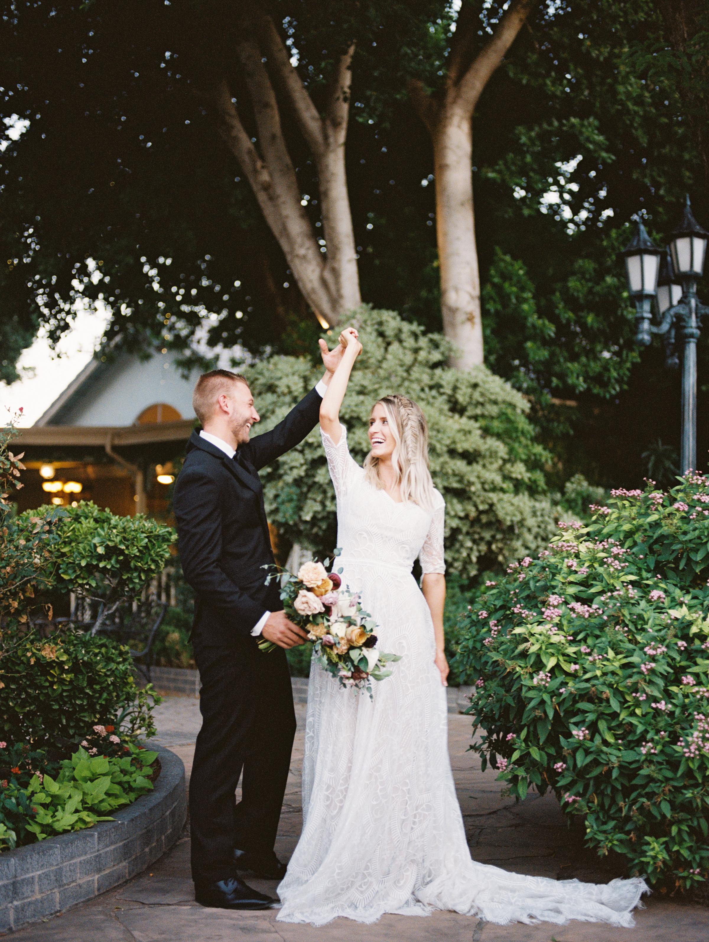 Boho Chic Long Sleeve Wedding Dress Fishtail Braid Wright House Truth And Beauty Photography 2