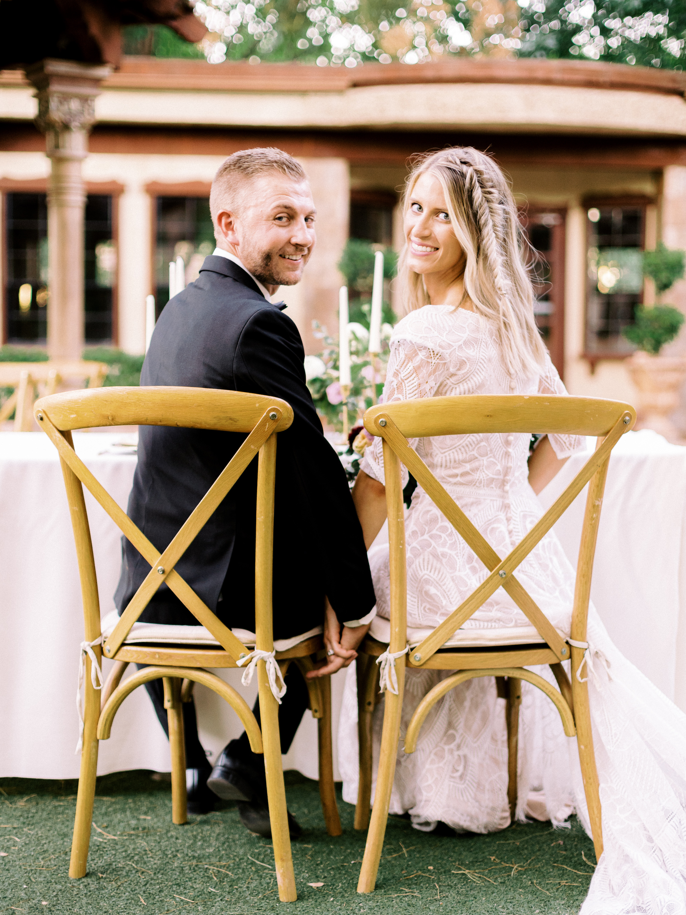 Boho Chic Long Sleeve Wedding Dress Fishtail Braid Wright House Truth And Beauty Photography 5