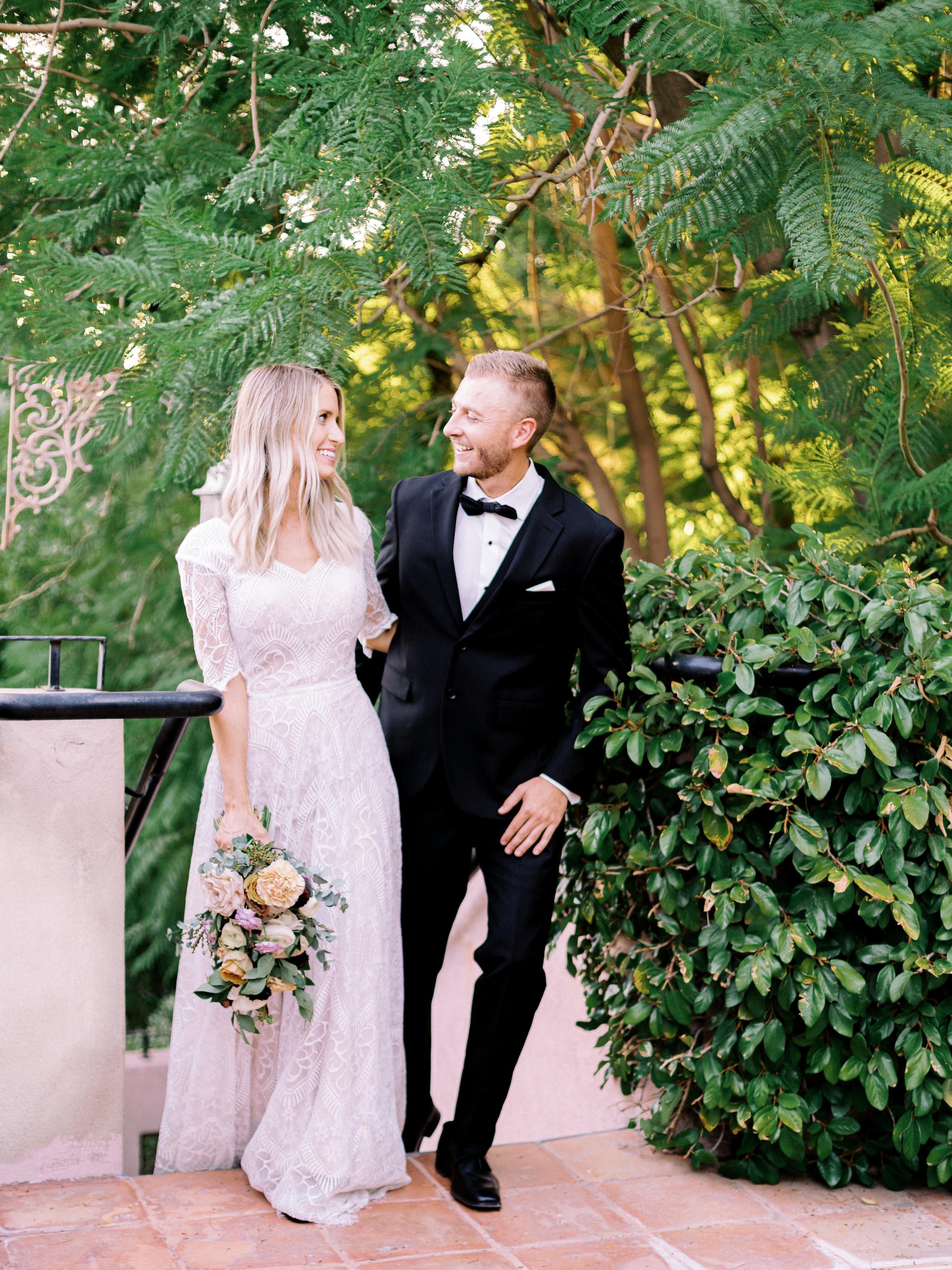 Boho Chic Wedding Dress Long Sleeve Romantic Roses Wright House Truth And Beauty Photography